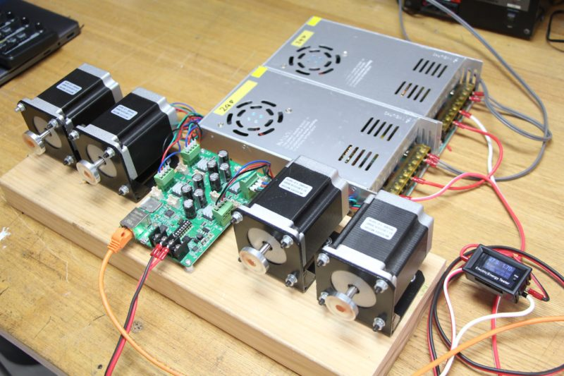 STEP400 working with the 48 V configuration, series of two 24V power supplies.